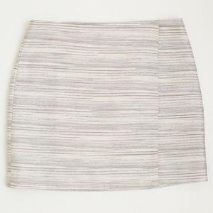 Club Monaco Metallic Wrap Skirt Size 4